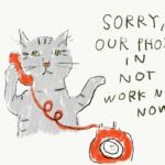 電話回線復旧しました