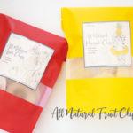 そのまんまのフルーツのおいしさ!ALL NATURAL FRUIT CHIPS新発売!